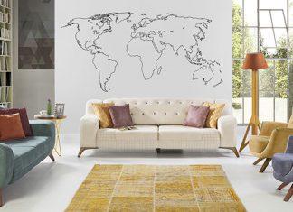 Fototapeta w całkiem nowej odsłonie, czyli mapa świata jakiej nie znamy