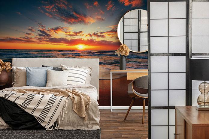 Delikatny pejzaż na dzień dobry w Twojej sypialni